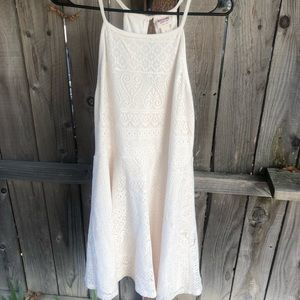 Target Mossimo Cream Lace Detail Dress Size L